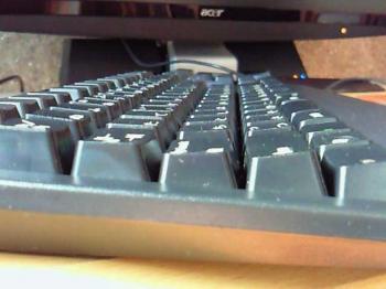 IBMキーボードの接写